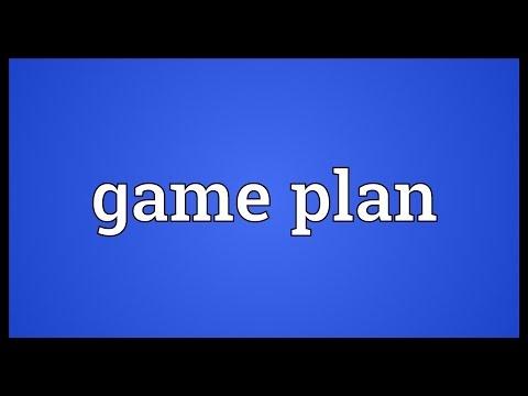 Game plan Meaning