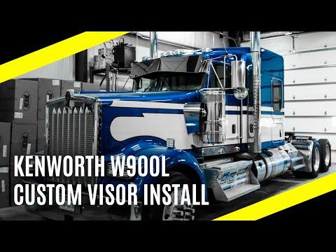 Kenworth W900L | Custom Visor Install By Big Rig Custom Garage