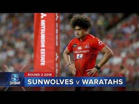 HIGHLIGHTS: 2019 Super Rugby Round 2 Sunwolves v Waratahs