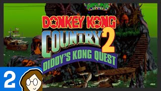 """Cade told me to title this stream 'YEET'"" — Donkey Kong Country 2: Diddy's Kong Quest - Episode 2"