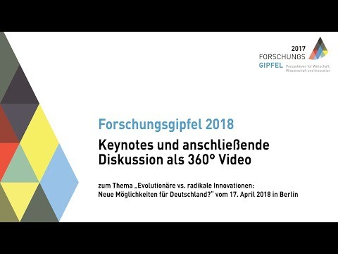 Forschungsgipfel 2018 in 360 Grad - Inner Circle 2