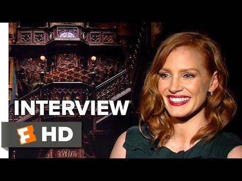 Crimson Peak Interview - Jessica Chastain (2015) - Guillermo Del Toro Fantasy Movie HD