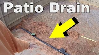 how to install a patio drain