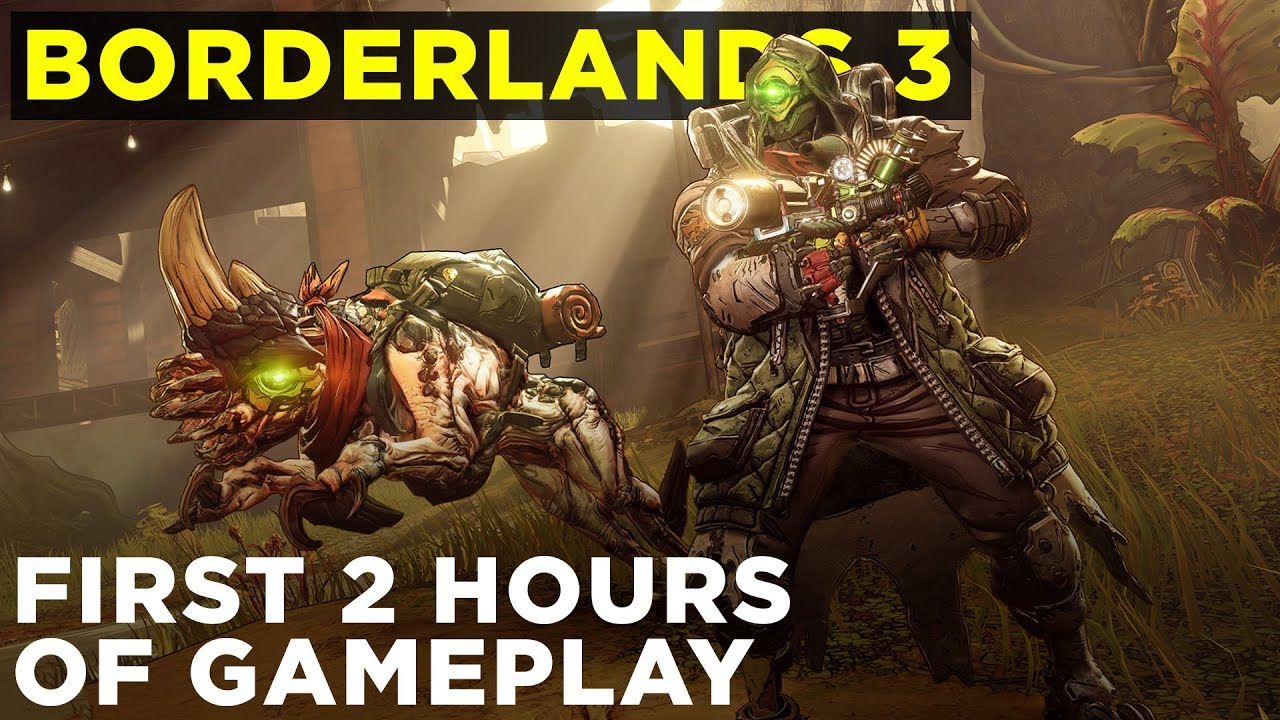 Borderlands 3: First 2 hours of gameplay | FL4K skill trees, weapons, boss  fights, & more!