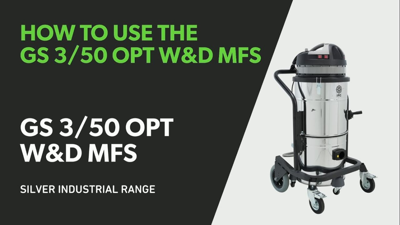 How to use the GS 3/50 OPT W&D MFS