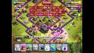 Clash of Clans [Offense] P.E.K.K.A/Barbarian King/Healer v. Lvl 61 Town Hall 9 w/ Dual X-Bows