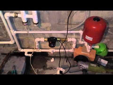 Стройка дома своими руками. Отопление на электрокотле. #3