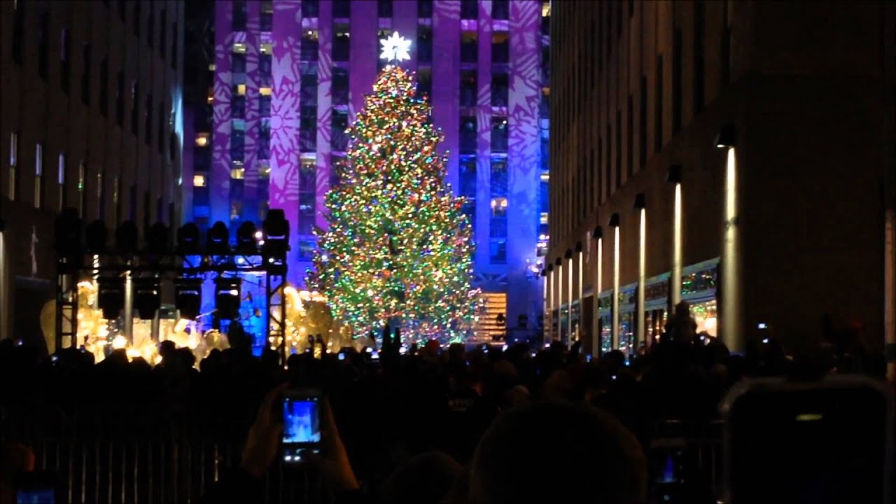 THE 2013 ROCKEFELLER CENTER CHRISTMAS TREE LIGHTING FESTIVITIES IN MIDTOWN MANHATTAN NEW YORK. - YouTube & THE 2013 ROCKEFELLER CENTER CHRISTMAS TREE LIGHTING FESTIVITIES IN ... azcodes.com