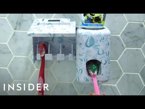 Toothpaste Dispenser Helps Kids Brush Teeth