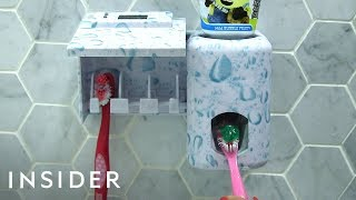 Toothpaste Dispenser Helps Kids Brush Teeth