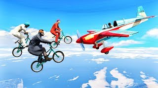 HOW MANY BMX'S DO YOU NEED TO TAKE OUT A PLANE? (GTA 5 Minigames)