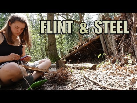 Flint & Steel Fire Lighting | Primitive Bushcraft Skills