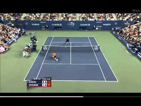 Nadal vs Istomin US Open 2010