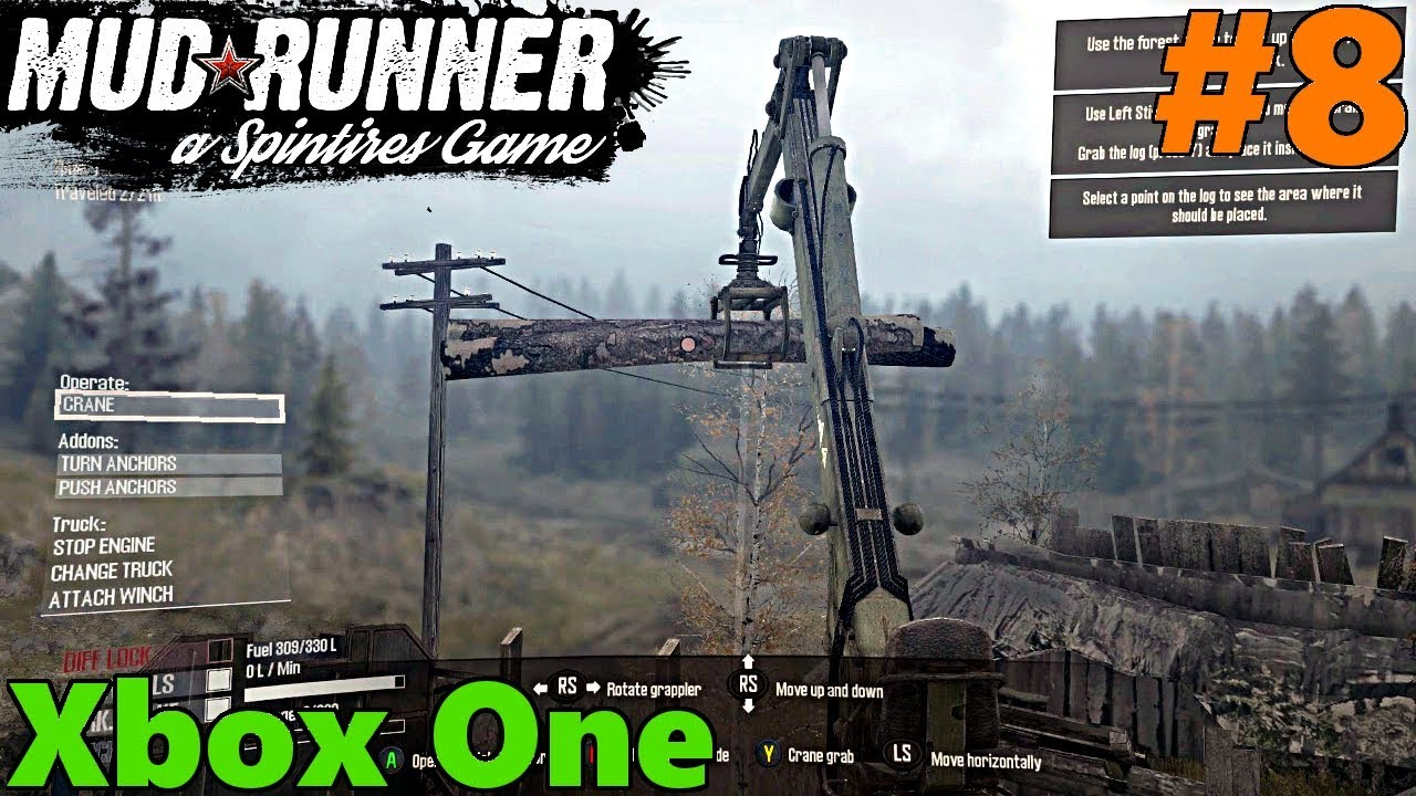 spintires mud runner xbox one let 39 s play part 8 crane. Black Bedroom Furniture Sets. Home Design Ideas