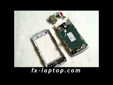 Disassembly Samsung H1 GT i8320 Vodafone 360 - Battery Glass Screen Replacement