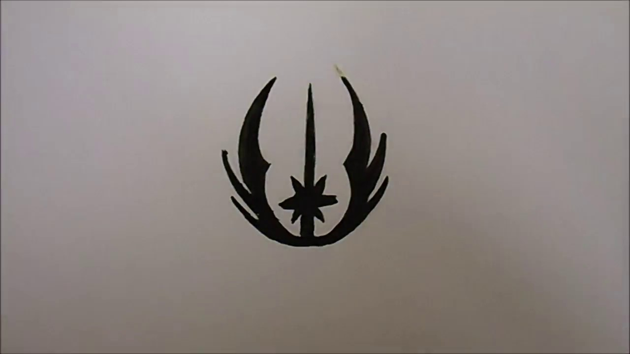 How to draw the jedi order symbol youtube how to draw the jedi order symbol biocorpaavc