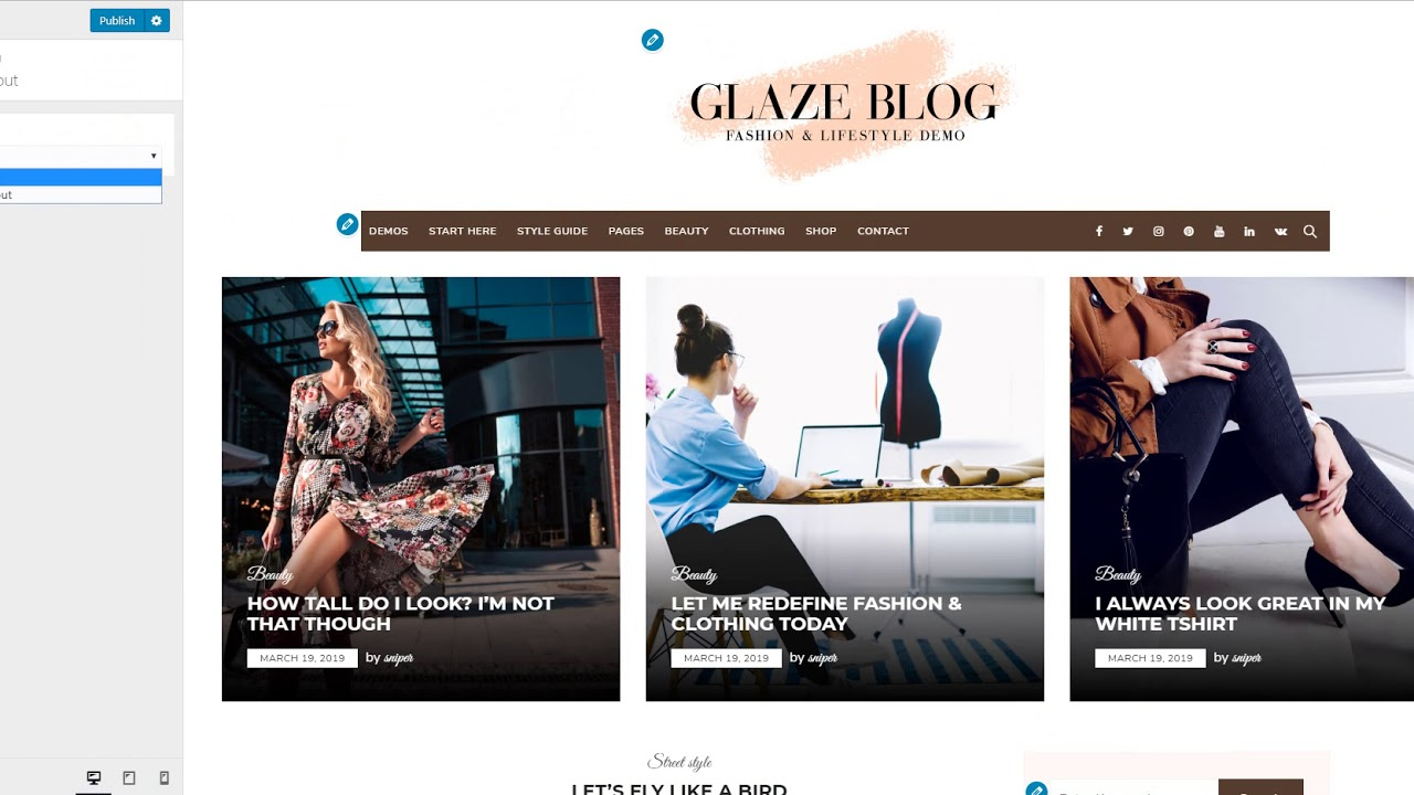 Glaze Blog Pro Documentation | Perfectwpthemes