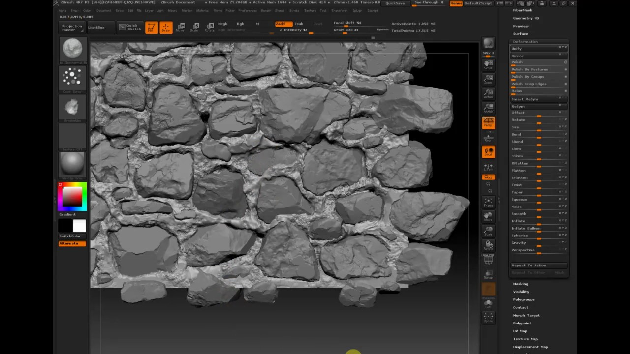 Old Stone Wall Zbrush Substance Designer 3 Youtube