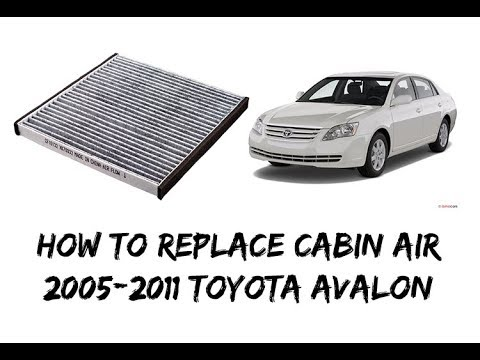 how to replace change cabin air filter 2005 2012 toyota. Black Bedroom Furniture Sets. Home Design Ideas