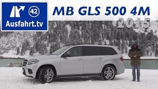 2015 Mercedes-Benz GLS 500 4MATIC - Fahrbericht der Probefahrt, Test   Review, (German)