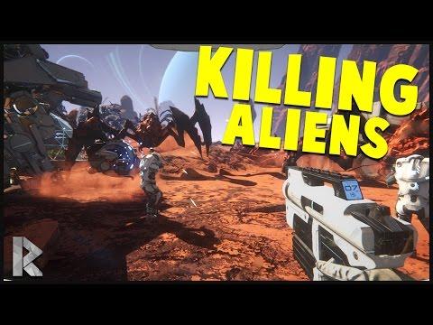 Killing a Larger Alien & Found a Lake! - Osiris: New Dawn Gameplay #2