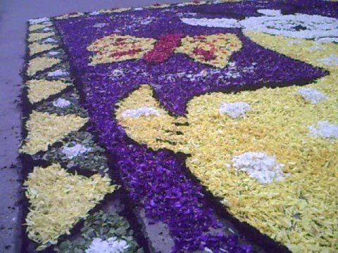 Alfombra de flores en tarma youtube for Fotos de alfombras