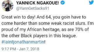 """JACKSONVILLE JAGUARS PLAYER CALLS OUT BUFFALO BILLS """"RICHIE INCOGNITO"""" FOR RACIAL SLURS DU"""