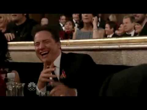 Brendan Fraser spazzes out and does a crazy clap