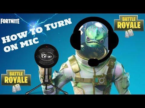 FORTNITE How To Turn On Mic/Push To Talk PC Season 5