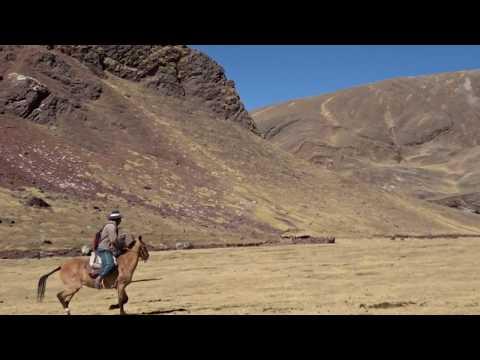 Horse Riding At Rainbow Mountain, Cusco, Peru