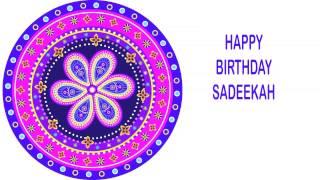Sadeekah   Indian Designs - Happy Birthday