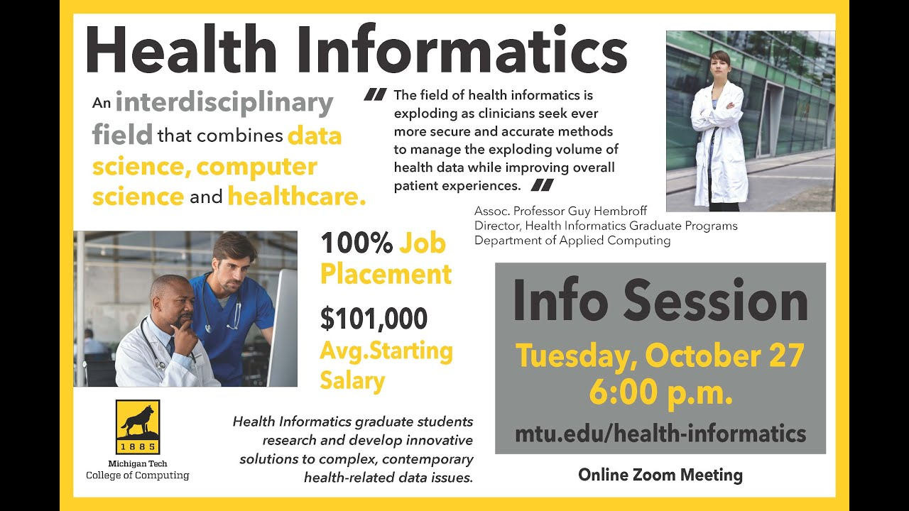 Preview image for Health Informatics Info Session, Nov. 2020 video