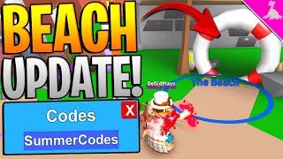 MYTHICAL BEACH CODES UPDATE IN ROBLOX MINING SIMULATOR! *Free Mythical Scythe!*
