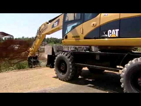 Cat® Wheel Excavators with Attachments in Action