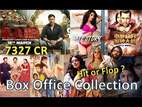 Box Office Collection Of Raid, Hate Story 4, Padmaavat, Sonu ke Titu Ki Sweety Etc 2018