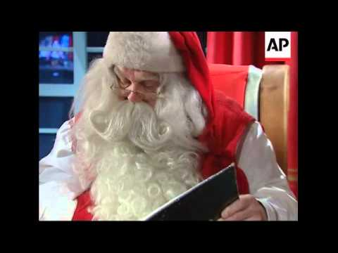 Santa and Rudolph prepare for Christmas