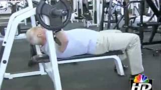 Powerlifting Champion Herb Strange interviewed by NBC TV Kansas City