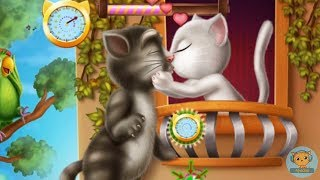 Kids Games For Kids - Girl Games - Talking Cat Tom and Angela Kissing Funny Game