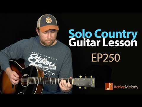 Country Solo Guitar Lesson  Play a Country Style Composition With No Accompaniment  EP250