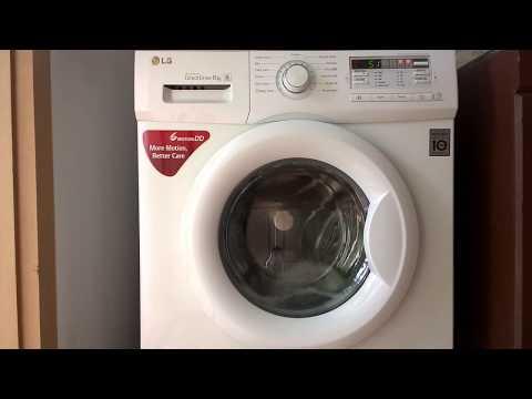 LG Washing Machine in drum clean mode