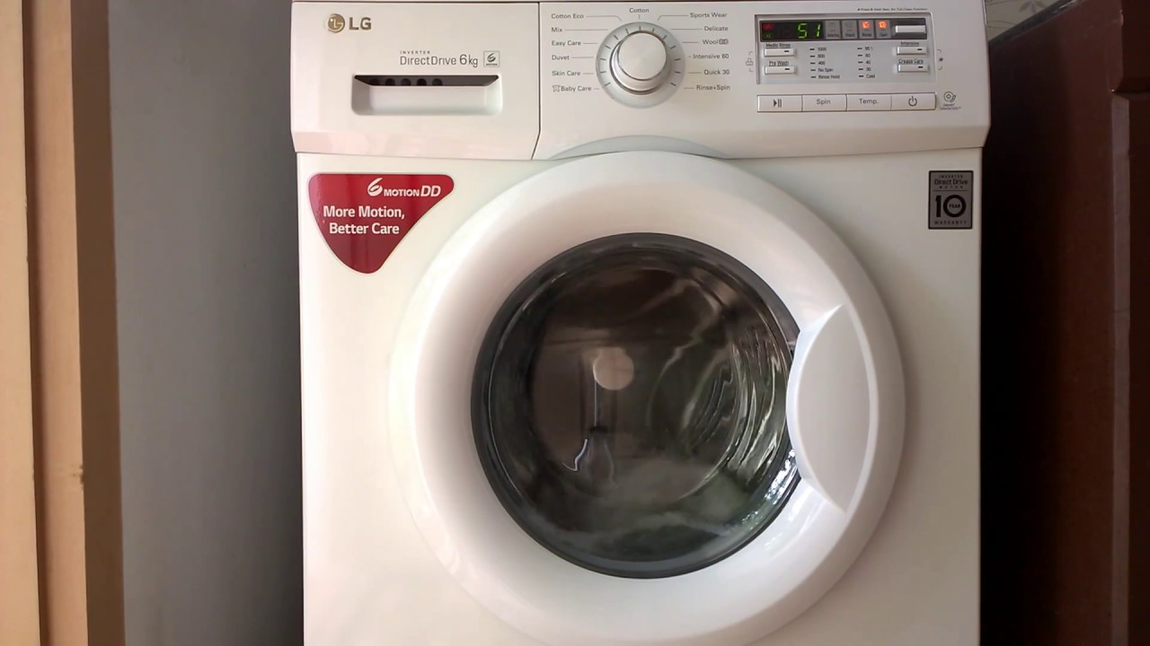 Lg Washing Machine In Drum Clean Mode