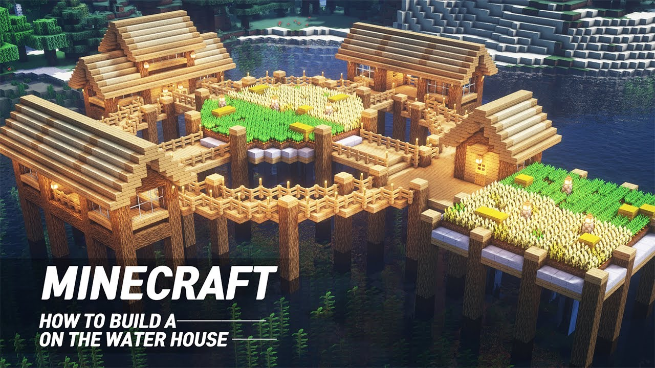 """Minecraft Tutorial : How To Build A House On Water """" 12 Easy Tutorial  Juns MAB"""" #12"""