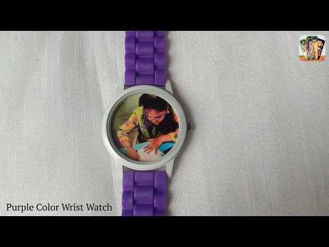 Purple Color Wrist Watch | Customized Wrist Watch Online | Print Photo.in