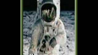 Neil Armstrong talking backwards on the moon