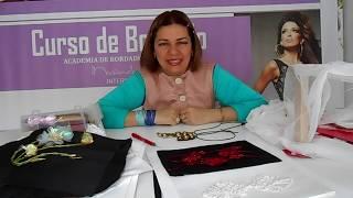 Curso de bordado en pedrería alta costura, información, Marianela isashi 1/2