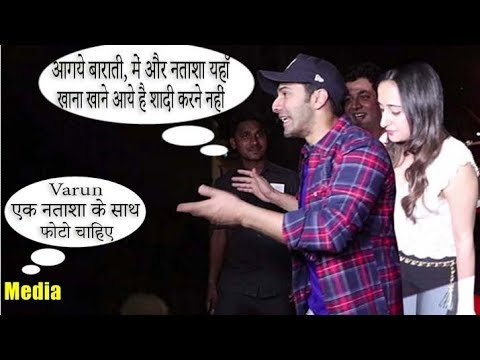Varun Dhawan Makes Fun With Media In Front Of Girlfriend Natasha Dalal For Dinner Date At HAKKASAN