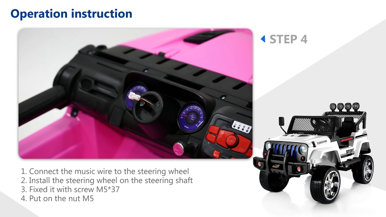 Instructions of Electric Ride on Jeep with Remote Control