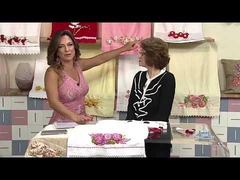 Aprenda a bordar rosas românticas com fita de cetim! 27/10/2017