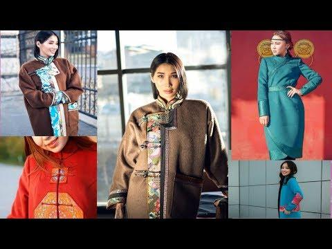 10 вариантов стилизованного национального пальто Тыва тон Дээл Дэгэл