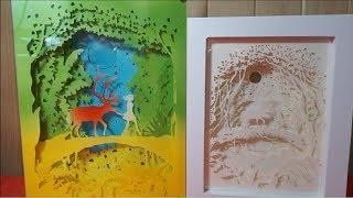[DIY] 페이퍼커팅 무드등 : 숲  │  Paper-cut Light Box : Forest